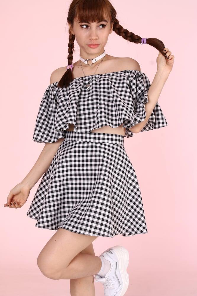 Image of Made To Order - Lolita Black & White Gingham Set