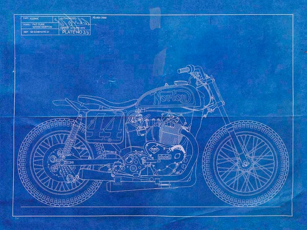 Image of Wood Norton Giclee blueprint