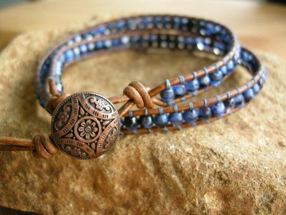 Image of Double Leather Wrap Bracelet-Featured in the 2014 Gbk Golden Globe Gift Lounge