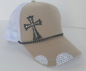Image of Triple Crystal Trucker Cross