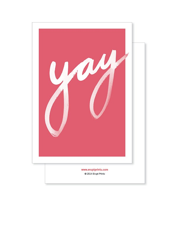 Image of Greeting Card - Yay - Deep Blush
