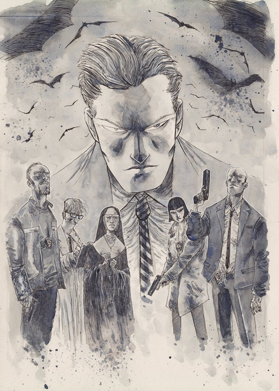 Image of GOTHAM BY MIDNIGHT #1 ORIGINAL COVER ART