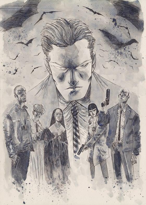 Image of GOTHAM BY MIDNIGHT #1 ORIGINAL COVER ART