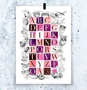 Image of Alfabetplakat med dine bilder - fem fargealternativer!