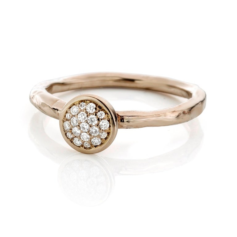 Beeld van Stacking ring white gold and cognac