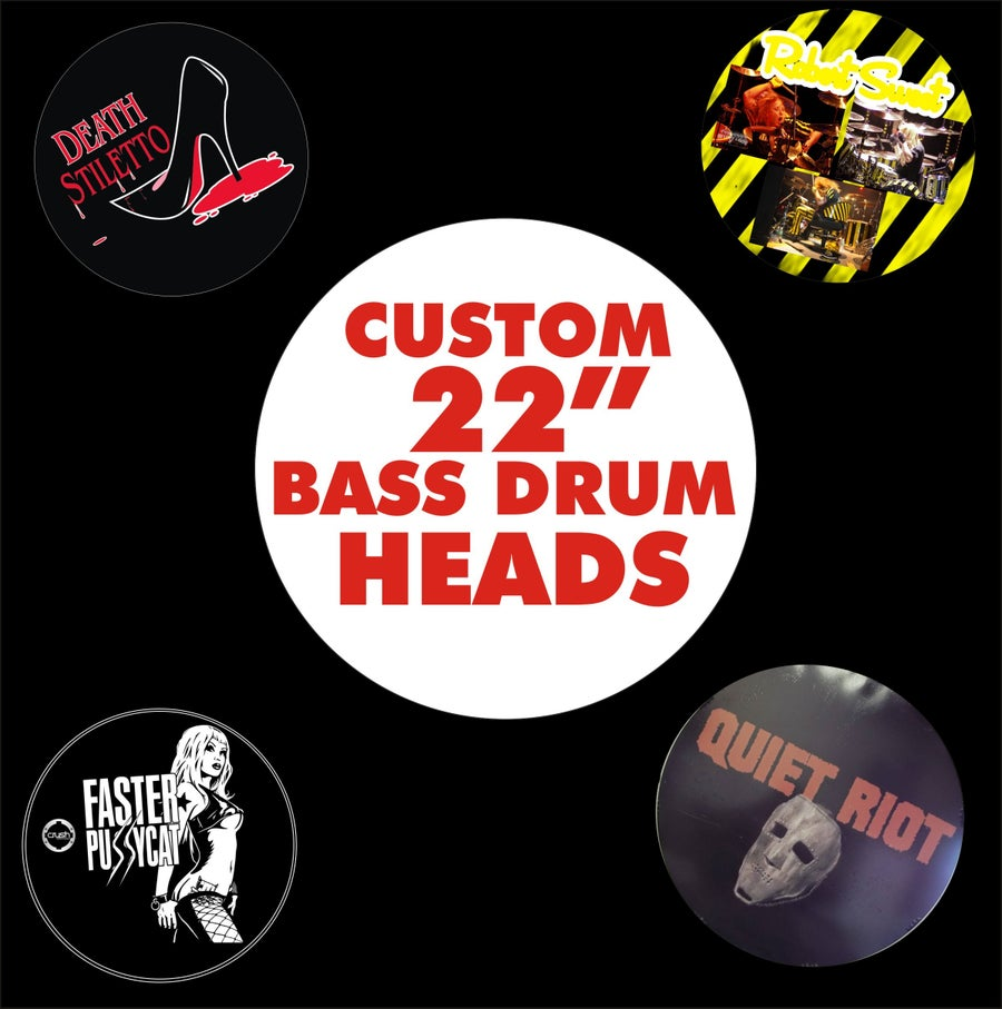 "Image of CUSTOM 22"" BASS DRUM HEADS"