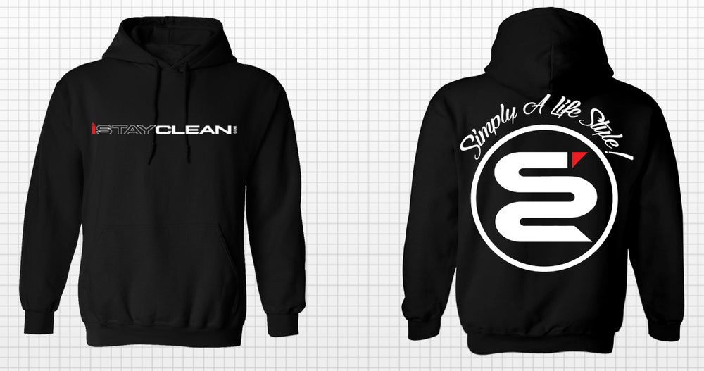 Image of iStayclean limited black pull over hoodie