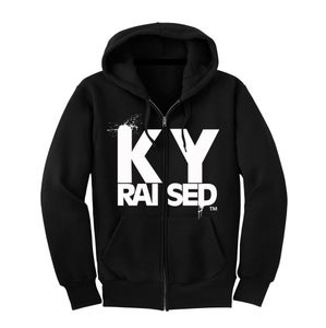 Image of KY Raised Black & White Zip Hoodie