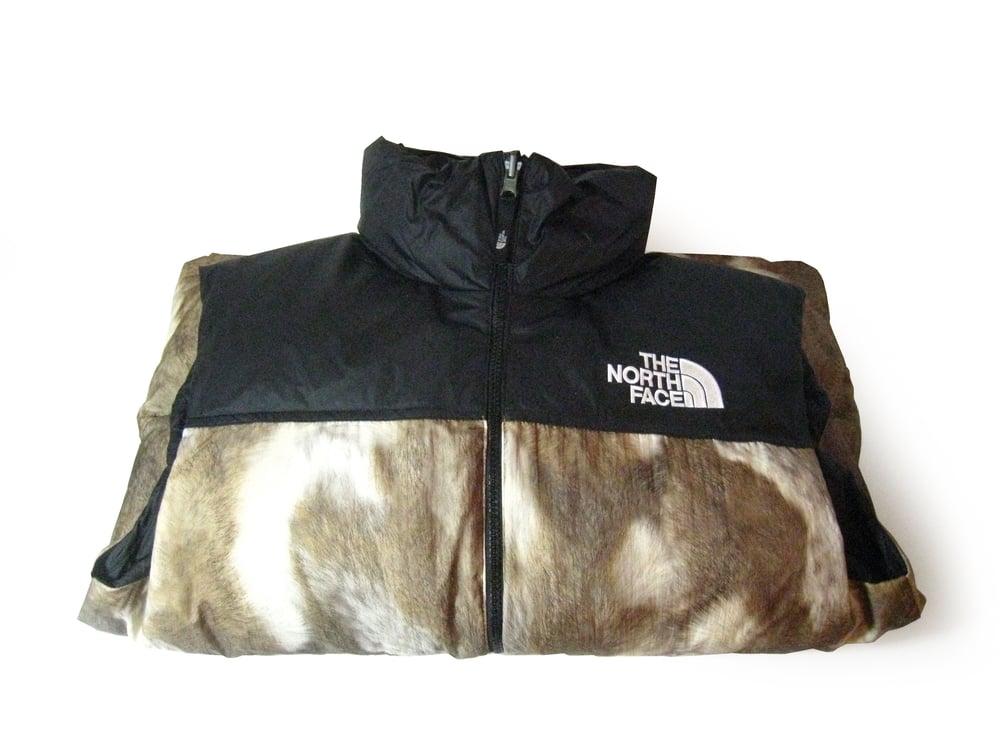 The North Face x Supreme Fur Print Nuptse Vest   MEGAFRESH 812932937