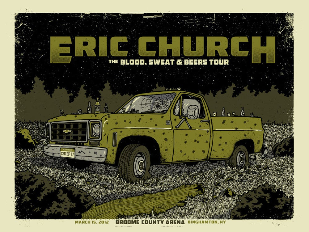 Image of ERIC CHURCH @ BROOME COUNTY ARENA, NY - 2012