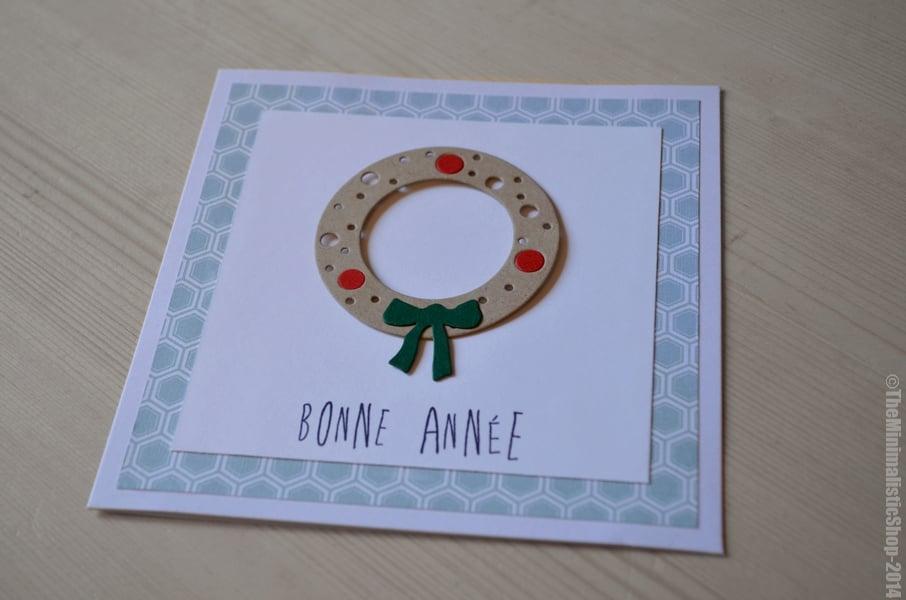 """Image of Carte de voeux de """"Bonne Année"""" à la Couronne de porte"""