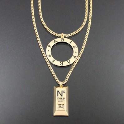 Image of PARIS GOLD BAR NECKLACE