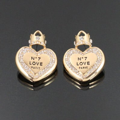 Image of NO 7 LOVE EARRING SET