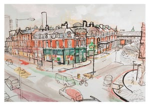 Image of General Market buildings at Smithfield - greetings card