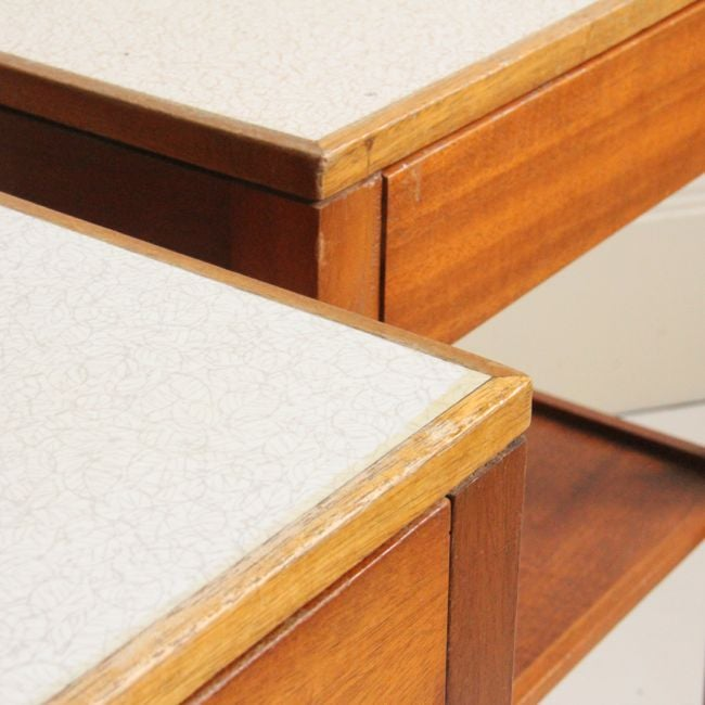 Image of Pair of Remploy Bedside Tables