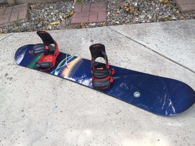 Image of Burton Fish 156cm 1st Generation Snowboard with Burton XL Binding