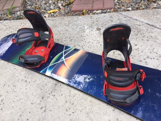 Image of Burton Fish 156cm 1st Generation Snowboard with Burton XL Binding
