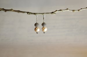 Image of Pink Pearl Drop Earrings
