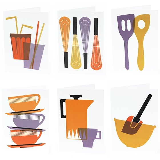Image of NOTECARD SET 'Kitchen' collection