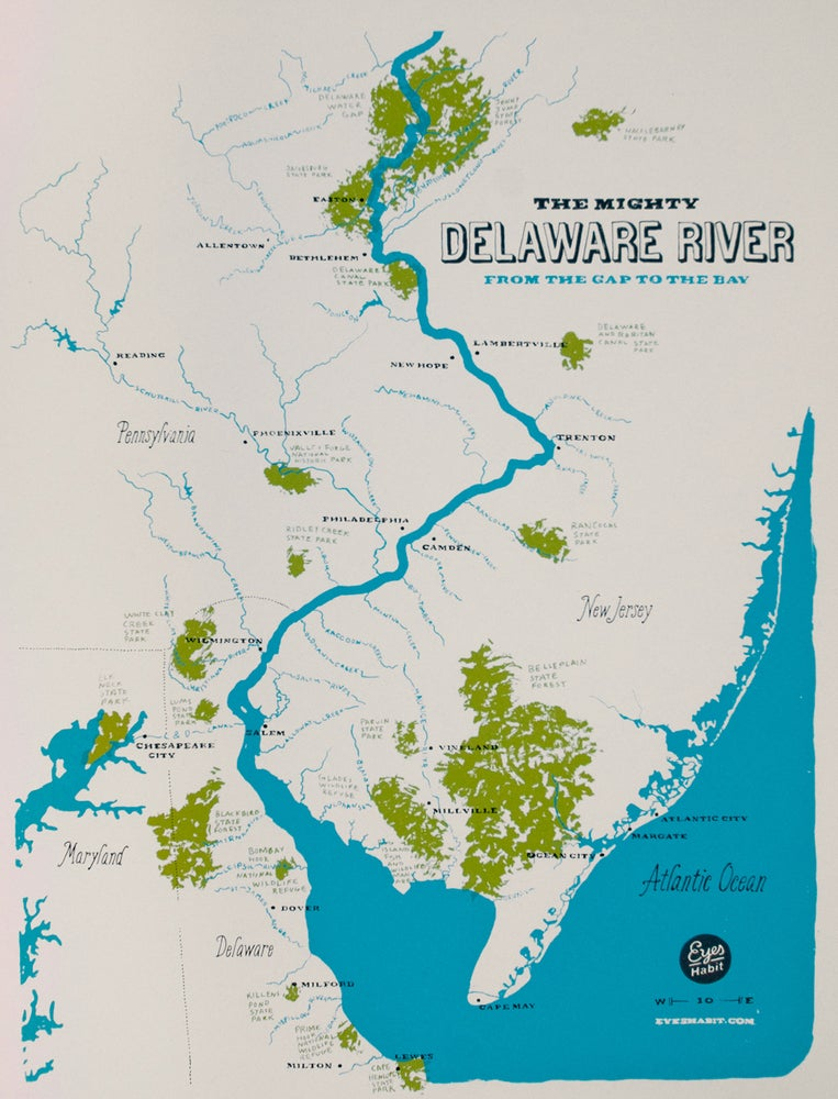 The Delaware River Map on