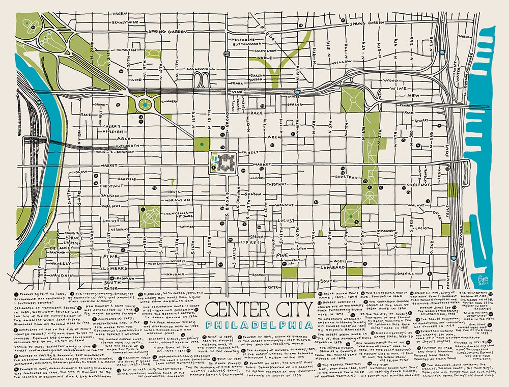 Eyes Habit — The Center City Map on