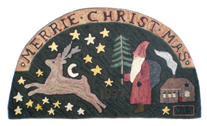 Image of Merrie Christmas with House Demilune