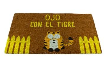 """Felpudos Maceta Colorá Felpudo """"Ojo con el Tigre"""""""