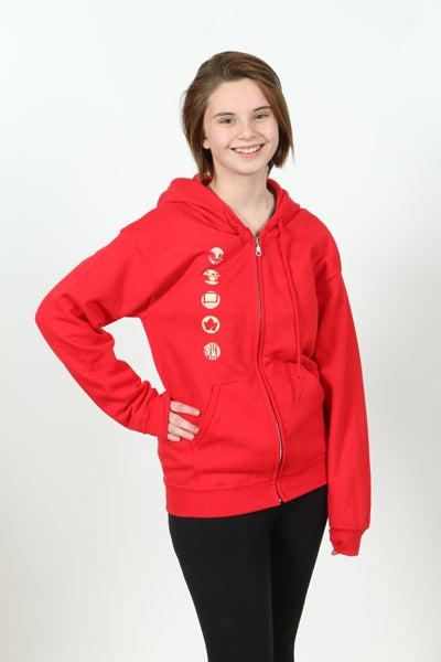 Image of Red Riverzedge Zip-Up Hoodie