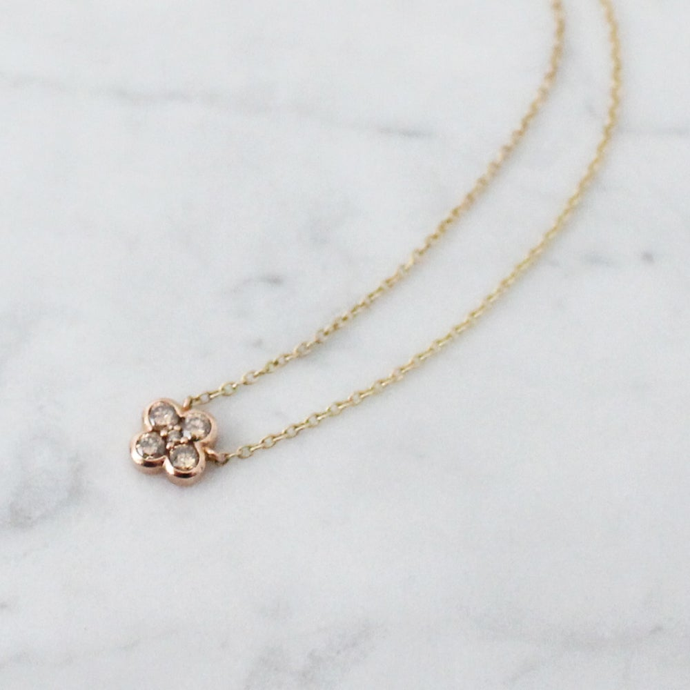 Image of Pink Clover Necklace