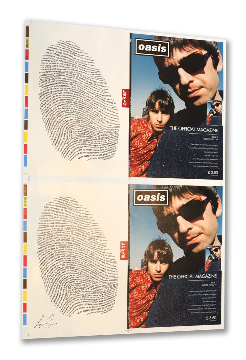 Image of Oasis 'Official Magazine Cover Printers Proof' 25 x 18 Inches