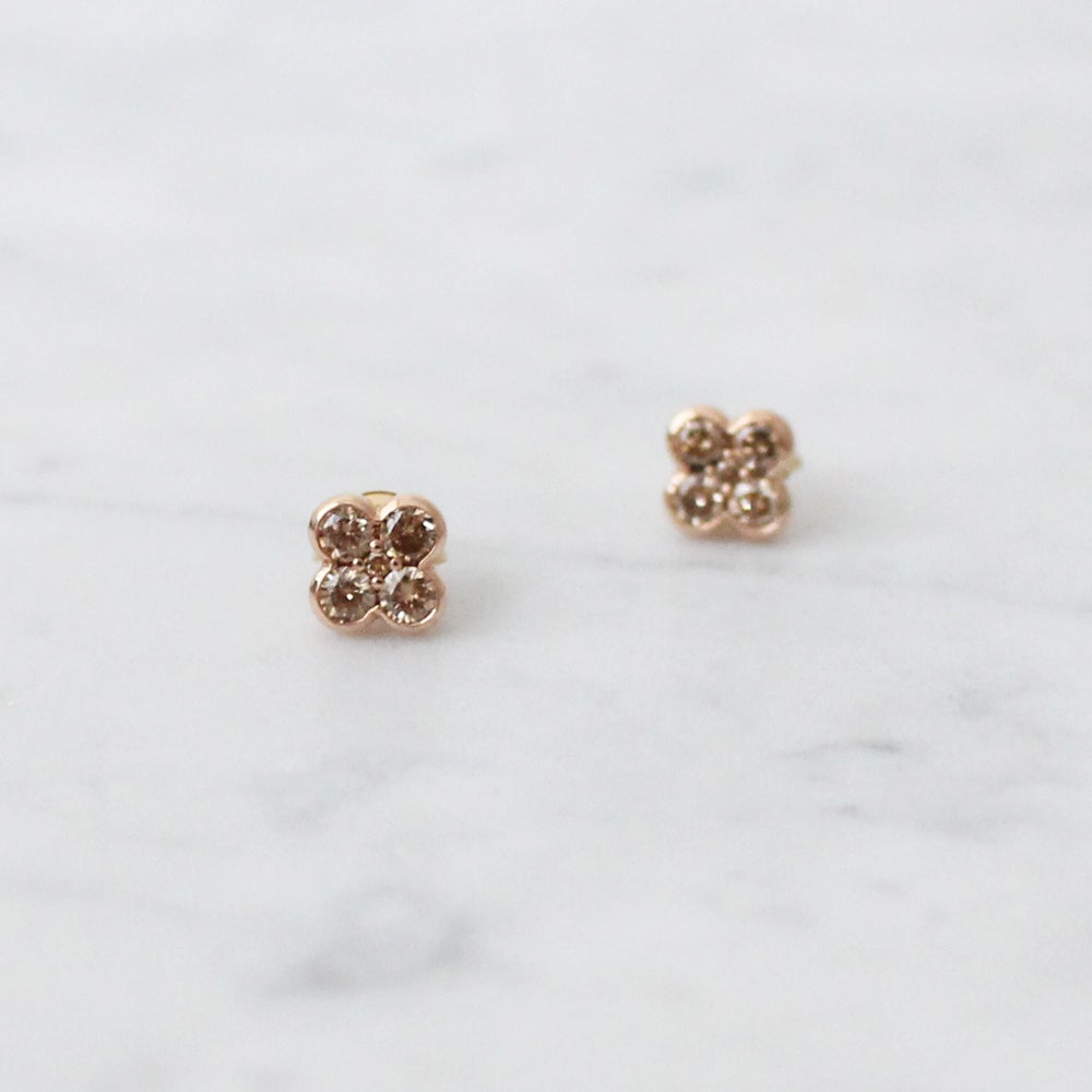Image of Pink Clover Earring