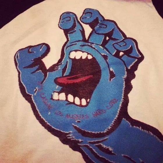 Image of Screaming Los Angeles Hardcore designed baseb