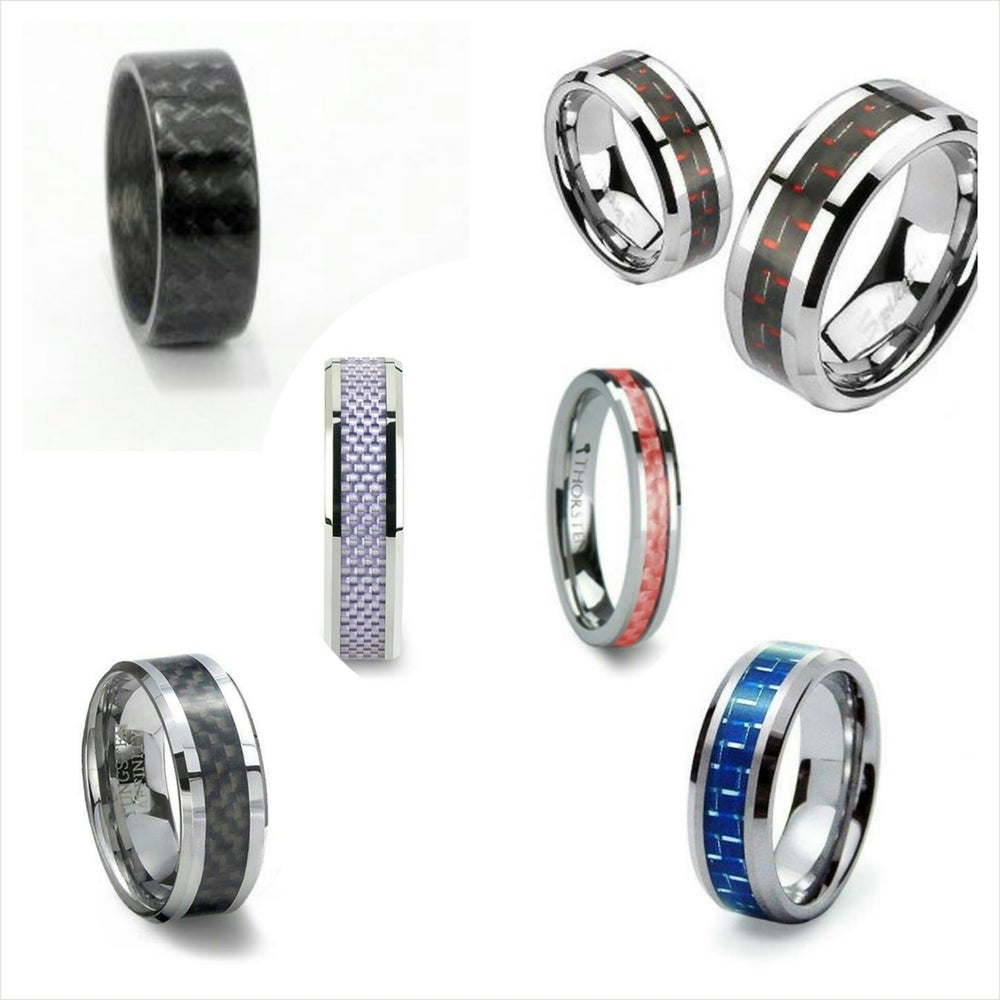 Image of Women's Carbon Fiber Rings