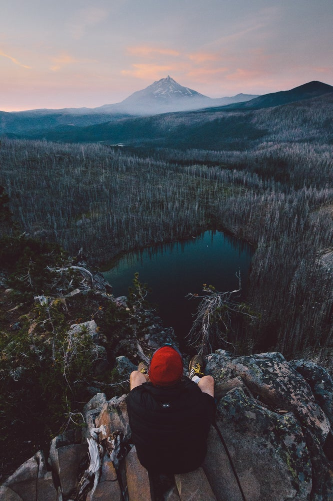 Image of Overlooking a Smoky Mt. Jefferson