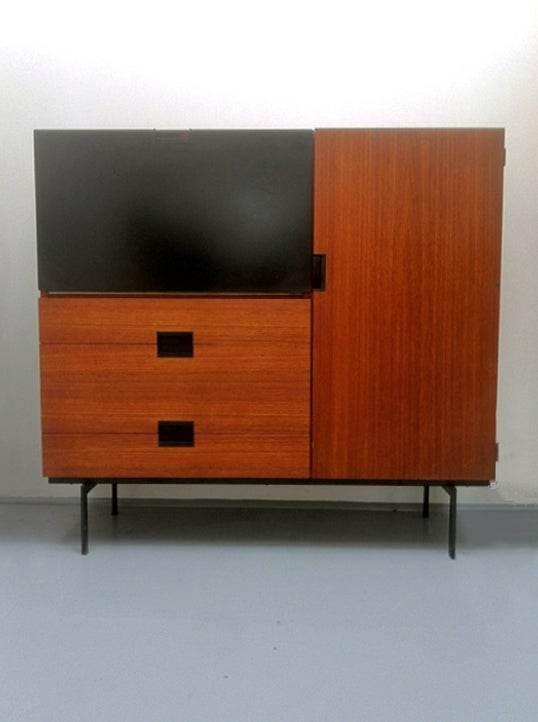 Image of 1950s Japanese Series Teak Cabinet