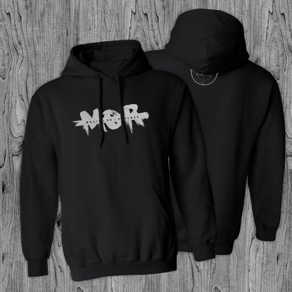 Image of M.O.R Black Hooded Sweatshirt