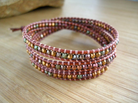 Image of Triple Leather Wrap Bracelet