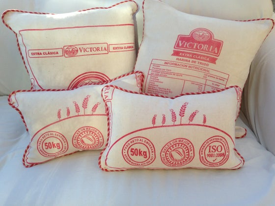 Image of Peruvian Grain Sack Pillows