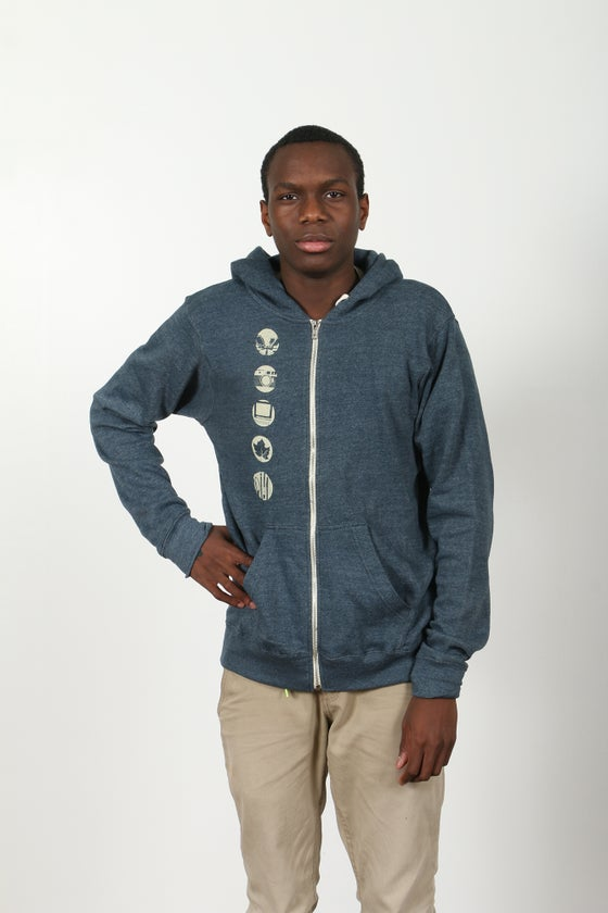 Image of Navy Riverzedge Zip-Up Hoodie