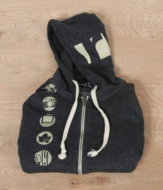 Image of Black Riverzedge Zip-Up Hoodie
