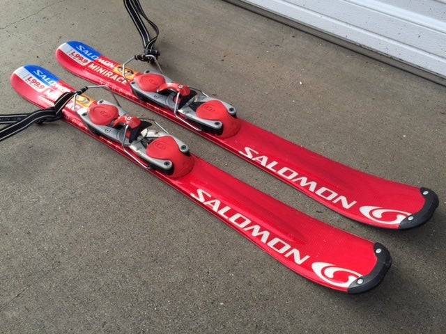 Image of Salomon L99.9 Mini Race Snowblade Trick Skis w/Salomon bindings