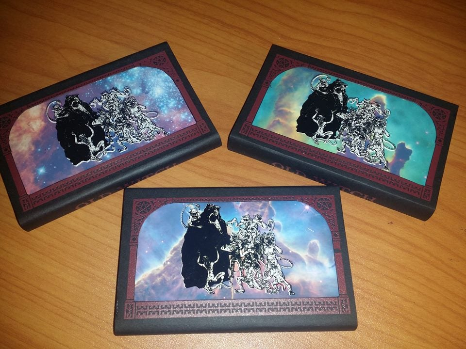 """Image of Old Witch """"Come Mourning Come"""" U.S. Cassette Version - Maroon Print"""