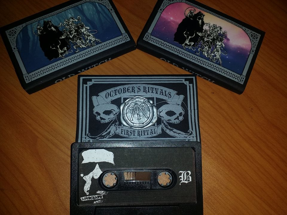 "Image of Old Witch ""Come Mourning Come"" U.S. Cassette Version - Grey Print"