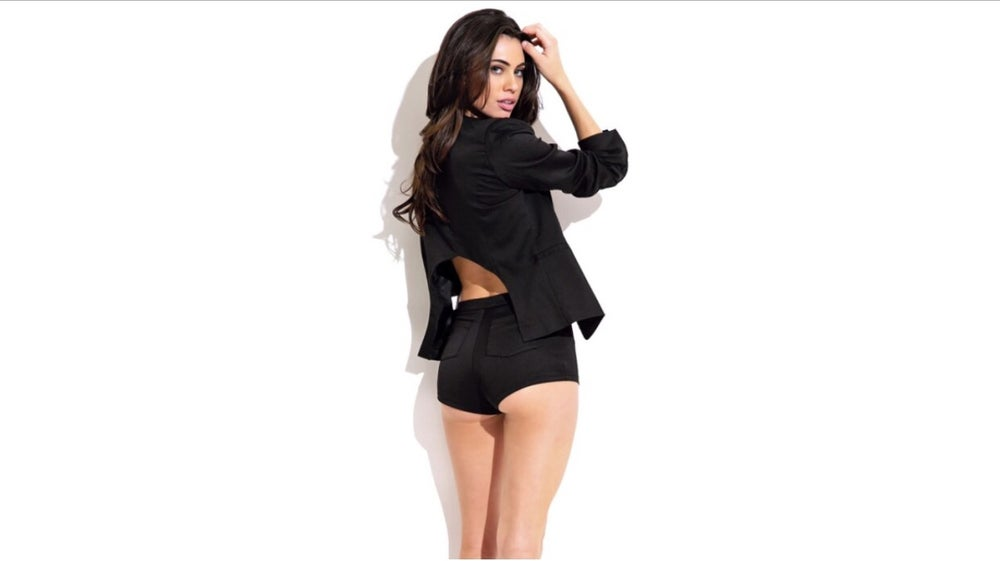 Image of Cut Out Back Blazer