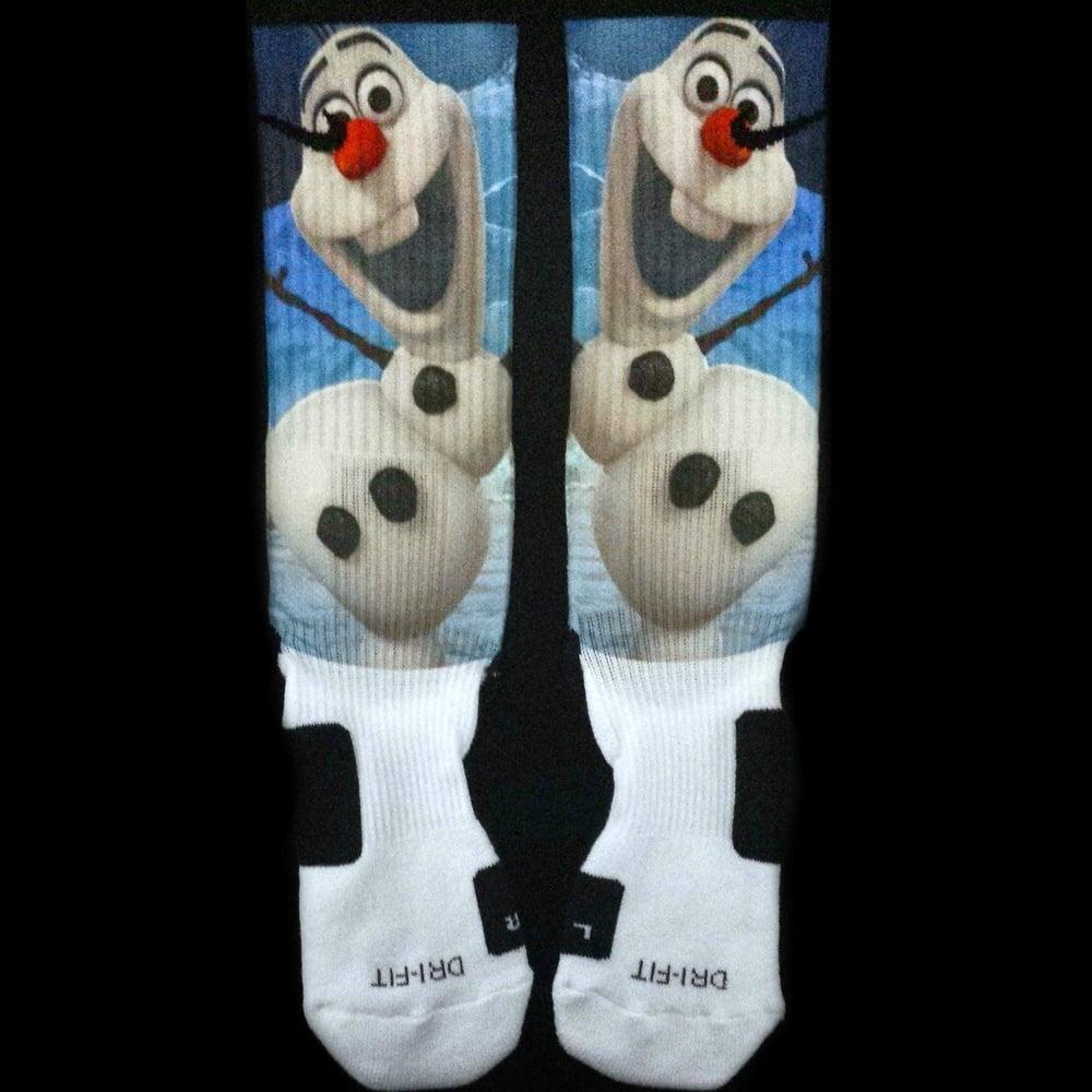 61fe39ee1e9 Olaf Frozen Custom Nike Elite Socks / Iconic Customs