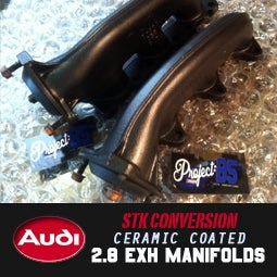 Image of PROJECTB5 - *STK CONVERSION* CERAMIC COATED 2.8 EXHAUST MANIFOLDS