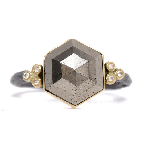 Image of Hexagon Pyrite Ring