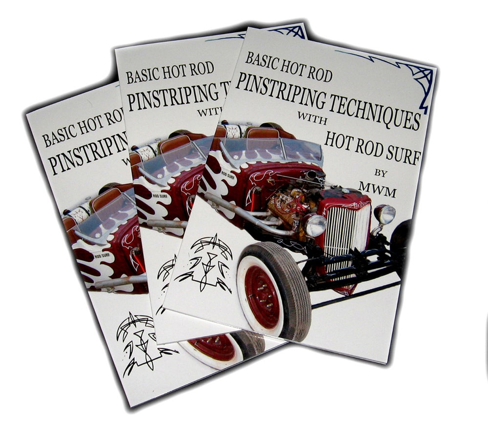 Image of HOT ROD SURF ® How To Basic Hot Rod Pinstriping Techniques with HOT ROD SURF by MWM - Book