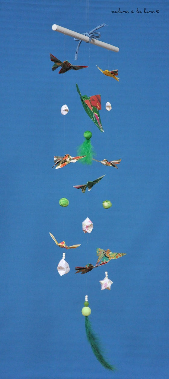 "Image of Mobile origami ""Papillons"""