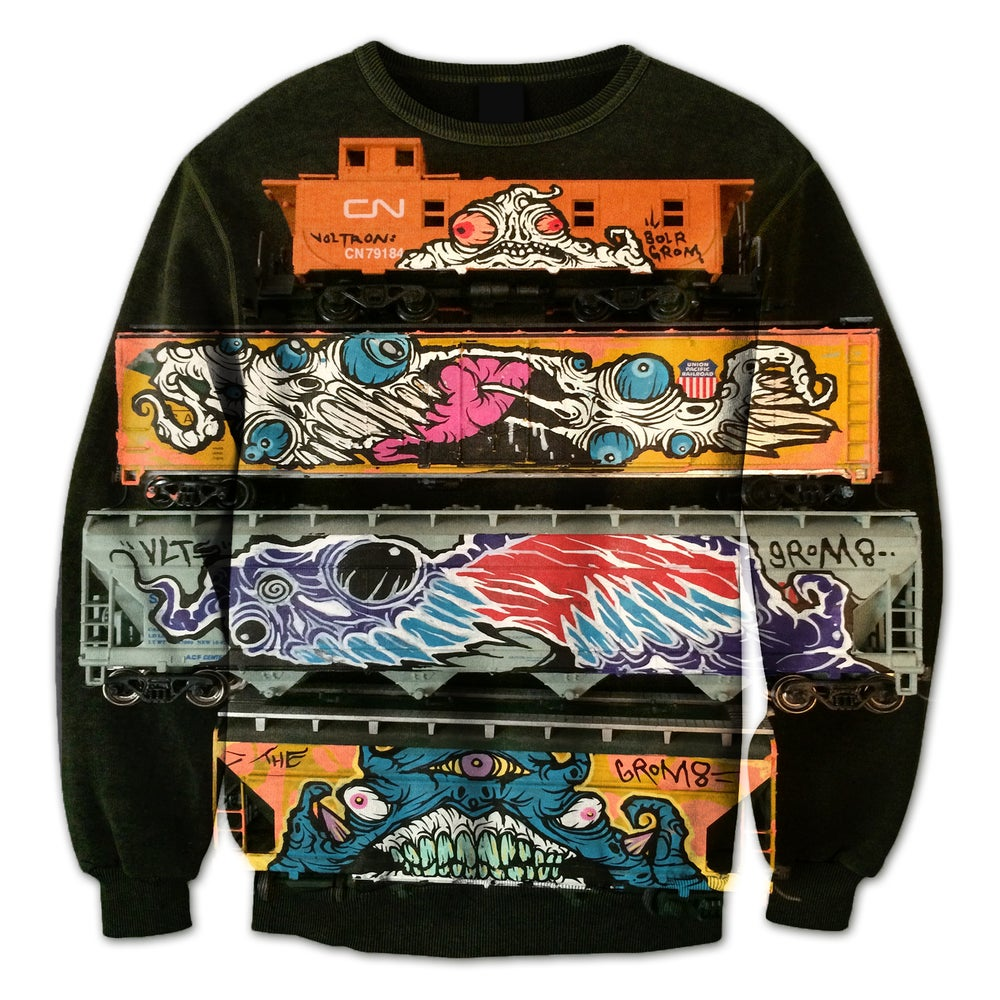 Image of Running Train Crewneck